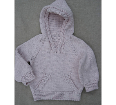 a hooded sweater The Daily Purl